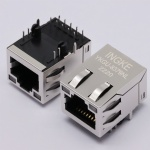 1000 Base-T Tab Up RJ45 Magjack Connector with LED