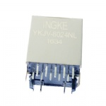100Base-T Vertical RJ45 Magjack Connector with G-Y LED