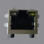 1000Base-T Long Body RJ45 Magjack Connector with G/O-Y LED