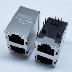 2X1 Ports RJ45 Ethernet Connector without Magnetic with EMI Finger