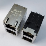 2X1 Ports 1000Base-T RJ45 Ethernet Connector Gigabit Magnetic Stacked Jack