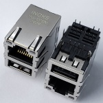 10/100Base-T RJ45 Ethernet Connector with USB2.0 and EMI Finger