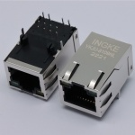 10/100Base-T RJ45 Ethernet Connector Tab Up with LED