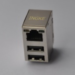 Gigabit Ethernet Jack with Dual USB