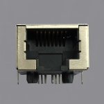10G Base-T Single Port RJ45 Magjack Connector 50µ Gold Plated